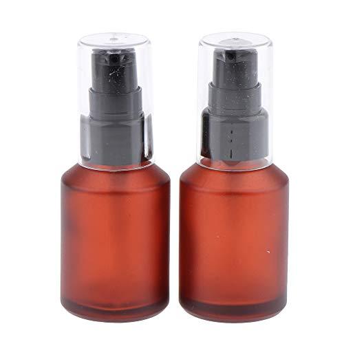 joyMerit 2x Botella de Recarga Vacía Lociones Dispensador de Bomba de Suero Contenedor de Almacenamiento de Viaje Botellas de Cosméticos - 30 ml