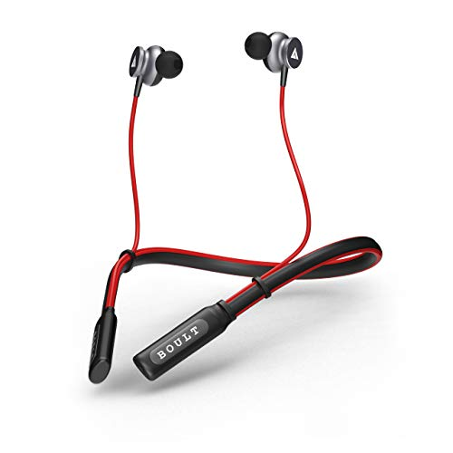 Boult Audio ProBass Curve Wireless Neckband Earphones with 12 Hour Battery Life & Latest Bluetooth 5.0, IPX5 Sweatproof Headphones with mic (Red)
