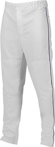 Marucci Youth Elite Double Knit Piped Baseball Pant, White/Navy, Small
