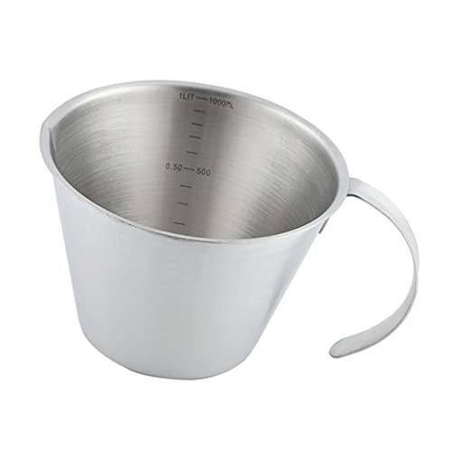 DOITOOL Tazas de Medición Jarras de Espuma de Leche de Acero Inoxidable Creamer Espresso de Espuma Jarra Onza Copa de Escala