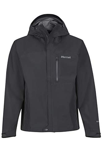 Marmot Men's Minimalist Lightweight Waterproof Rain Jacket, GORE-TEX with PACLITE Technology, Black, Large