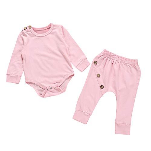 Muium Ensemble Bebe Garçon Fille Hiver,Toddler Kids Body bébé Soild Romper Body + Ensembles Pantalons pour 0-2 Ans