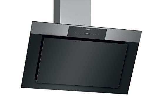 Neff D95IPP1N0 Dunstabzugshaube schräg N70 / 90cm / Abluft oder Umluft / EfficientDrive / TouchControl / Energieeffizienz A / Klarglas / schwarz