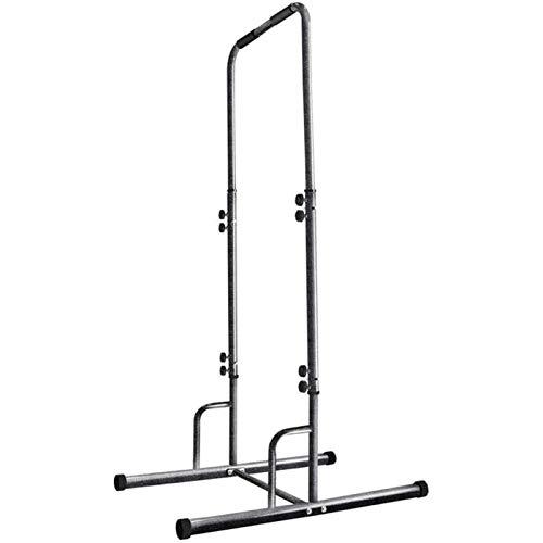 HYDT Pull Up Bar Dip Stands Stands Fitness Horizontal Bar Barbell Frame Ajustable Push Up Ejercicio Energía para el hogar Gimnasio Entrenamiento Cuerpo Entrenamiento