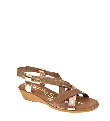 Sandalia CUÑA - Mujer - Nude - oh my sandals - 4319