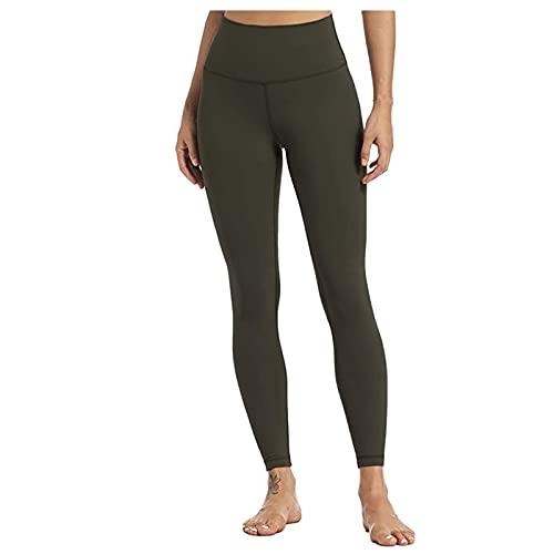 QTJY Pantalones de Yoga elásticos para Mujer, Cintura Alta, Caderas, Pantalones de chándal Delgados, Flexiones, Entrenamiento, Celulitis, Pantalones para Correr A L