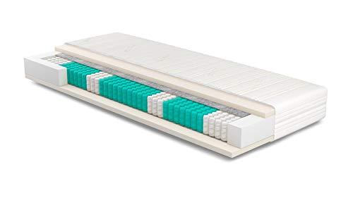 Matratze 75x200 cm   SERA H4   Tencel   Orthopädische 7-Zonen   Komforthöhe 23cm   Ideal für Allergiker & Schwitzer   Tonnentaschen   Taschenfederkernmatratze 75 x 200
