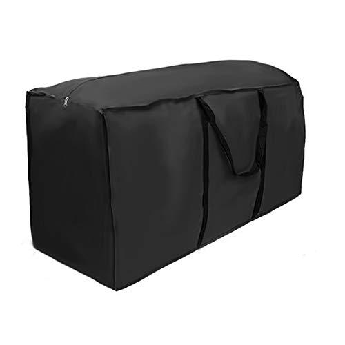 Ghopy Schutzhülle für Auflagen Aufbewahrungstasche Auflagentasche Gartenauflagen Gartenpolster Aufbewahrung Tasche mit Tragegriff 210D Oxford Kissen (173x76x51cm)