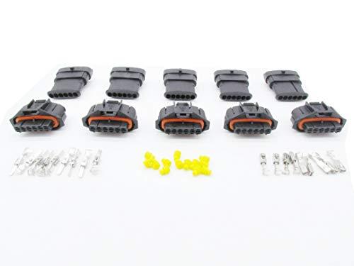 CNKF 5 Sets Bosch BSK MAP sensor 6 pin mannelijke en vrouwelijke Connector voor Diesel Injectiepomp Connector 1928403204/192840320