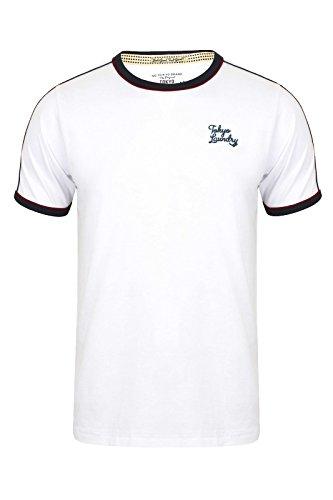 Tokyo Laundry -  T-shirt - Collo a U  - Maniche corte  - Uomo Optic White X-Large