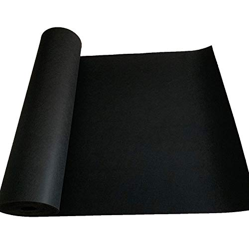 tonchean Automotive Carpet Upholstery Fabric, 33 x 3.3Ft Car Replacement Underfelt, Durable Black Auto Floor Trunk Covering for Speaker Sub Box Home RV Truck Boat Trunk Liner