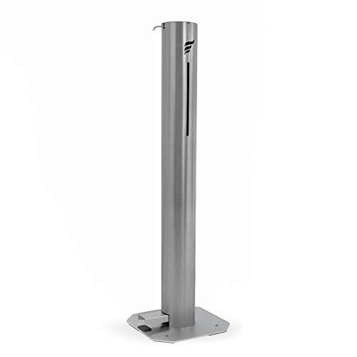 ASTREEA Dispensador de desinfectante de manos de acero quirúrgico con pedal, sin contacto
