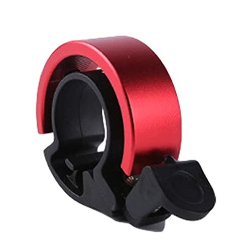 JINQIANSHANGMAO Bicycle Bell Aleación de Aluminio Bicicleta Bell Horno de Bicicleta Simple y única Bell Bell During Crisp Crisp and Ruid Sound (Color : Red)