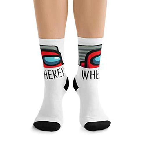 Benfa Fashion Among Us Game Long Stockings Game Womens Socks Christmas Socks Thigh High Long Stockings Knit Over Knee Socks Xmas Gift Ladies Socks for Winter,Style1