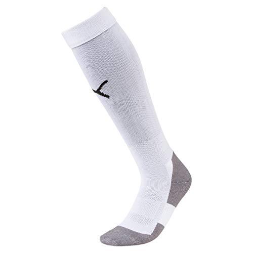 Puma Liga Socks Core, Calcetines para Hombre, Blanco (White/Black), 39-42 (Talla del fabricante: 3)