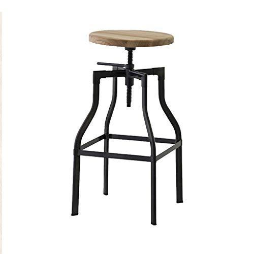 Taburete de bar estilo industrial de hierro forjado americano estilo ascensor bar silla giratoria Re