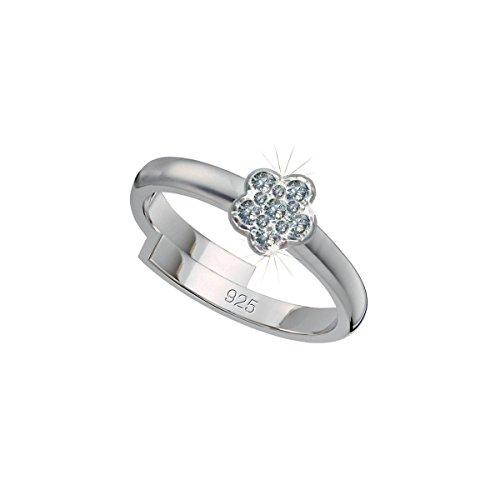 SCOUT Kinder-Ring 925 Silber rhodiniert Zirkonia weiß Ringgröße verstellbar - 263012100