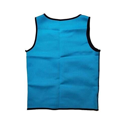 Rugsteungordel Afslanken Belt Belly Mannen Afslanken Vest Body Shaper neopreen Buik Fat Burning Shaperwear Taille Sweat Corset Gewicht Dropship brace Lumbale (Color : Blue, Size : L)