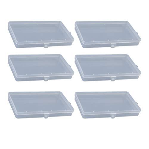 Cabilock 12 Stück Rechteck Maske Aufbewahrungshalter Kreative Stift Aufbewahrungsbox Transparenten Behälter