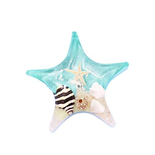 DAWEIF Fridge Magnets Mini Starfish Multicolor Magnets Natural Sea Turtle Glowing Luminous Resin Note Sticker Fridge Magnets(green Starfish)