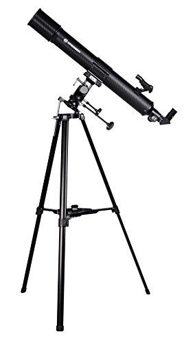 Bresser Refraktor Teleskop Taurus NG 90/900 mit Sonnenfilter, MPM Montierung, 3-Bein-Stativ und Smartphone Kamera Adapter zur Himmels- und Sonnenbeobachtung, schwarz