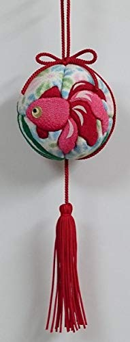 ちりめん手芸キット「金魚」木目込み吊るし手まり