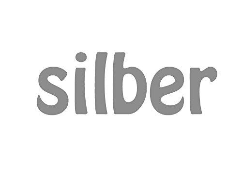 Miniblings 10x Transfert Tissu 28mm Patch Lisse Fleur I Patches à Repasser Repassage, Color:Silber