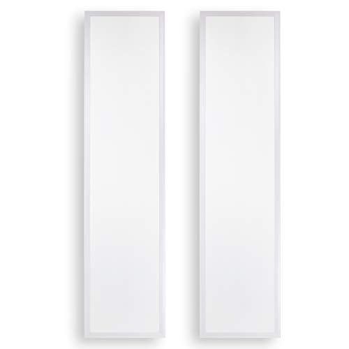 POPP® Panel LED 60x60 30x120 (Pack2) 40W Driver LIFUD 4000Lm IP20 4000K Neutro 6000K Fria para Falso Techo series ECO Bajo Consumo(30x120cm, 6000K)