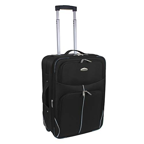 ARIANA Lightweight Luggage Travel Suitcase Cabin Bag Hand Luggage Trolley- RT32 (18' XSmall (Cabin Size), Black)