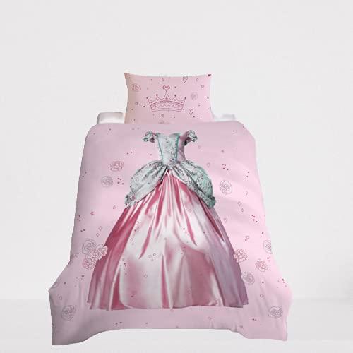Ropa De Cama De Estilo Princesa Textiles para El Hogar Funda Nórdica Funda De Almohada Cómoda Suave Duradera Y Fácil De Limpiar 200x230cm