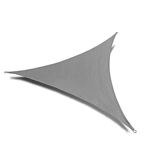 WXQ Garden Toldo Vela Solar Triángulo Shade Neto cifrado Jardín de Malla Anti-UV Anti-Aging Shade Sails Espesa el cifrado de protección Solar Cubierta Jardín Toldo (Color : Gray, Size : 3x3x3m)
