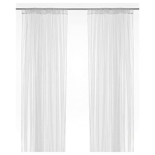 Ikea - Cortinas bufanda  lill  juego de 2 cortinas para ventana bufanda cada 300x280cm