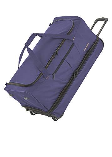 travelite 2-Rad Trolley Reisetasche Gr. L mit Dehnfalte, Gepäck Serie BASICS: Weichgepäck Reisetasche mit Rollen mit extra Volumen, 096276-20, 70 cm, 98 Liter (erweiterbar auf 119 Liter) marine