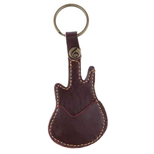 Keychain Gitarre Halter Pickholder Plektrumhalter Plektrenhalter Neu Picks Leder, Schwarz