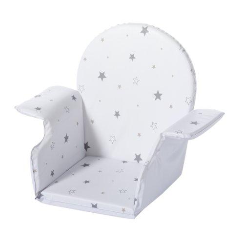 Schardt 090020000 077 Coussin pour chaise haute X-TRA avec dossier Motif étoiles grises