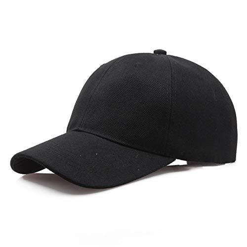 nobrand Dicker Baumwollnormallack Leere Kappe Hut Baseball-Cap Gap Arbeit Unisex Baseballmütze (Color : Black, Size : 58-60cm)