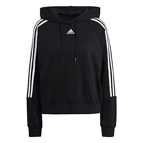 adidas W 3S HD Damen-Sweatshirt, Damen, Sweatshirt, GL1460, Schwarz, M