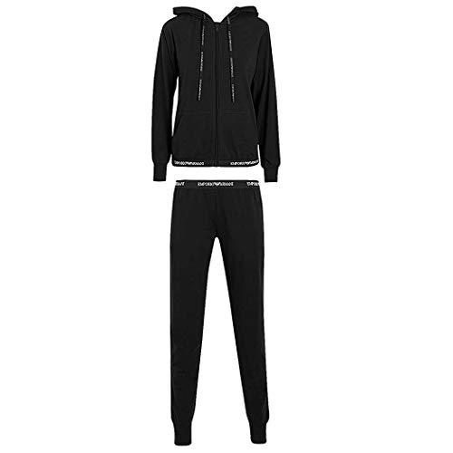 Emporio Armani Damen Sweatshirt + Pant 164145CC270 (S, Black)