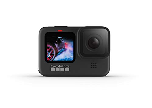 GoPro HERO9 Black — Waterproof Action Camera with Touch Screen 5K Ultra HD Video 20MP Photos 1080p Live Streaming Stabilization, Dual Screen, HyperSmooth 3.0 and Time Warp 3.0