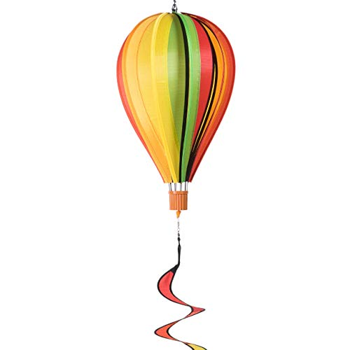 CIM Windspiel - Heißluftballon Twister Fruits 23 - wetterbeständig - Ballon:Ø23cm x 37cm, Spirale: Ø10 cm x 75cm - inklusive kugelgelagerter Aufhängung - Geschenkidee
