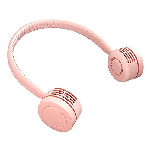 GUMEI Ventilador de Cuello Colgante sin Hojas portátil Carga USB Deportes al Aire Libre Aire frío Flexible
