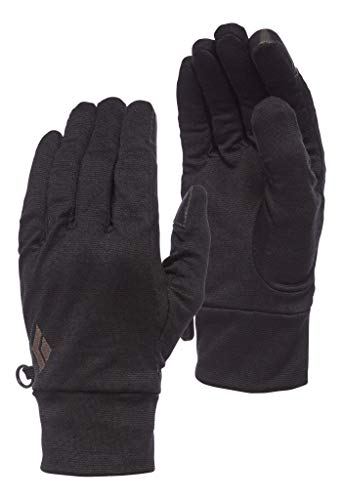 Black Diamond LIGHTWEIGHT WOOLTECH GLOVES Gants Anthracite FR : XS (Taille Fabricant : Extra Small)