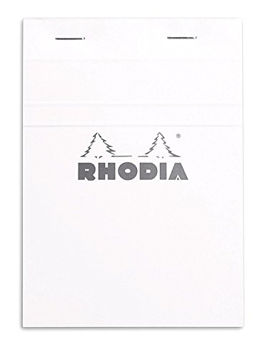 Rhodia Classic Ice Top Staplebound Notepad 6 in X 8.25in, Grid Paper, Pack of 5