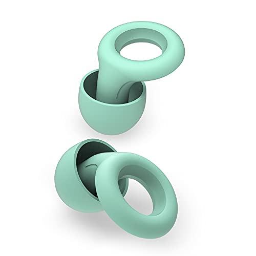 Loop Quiet Ohrstöpsel - Weicher, wiederverwendbarer Silikon Gehörschutz + 6 Ohrstöpsel in S/M/L - Geräuschreduzierung um 25 dB - Perfekt für Schlafen, Reisen & Konzentration - Mint