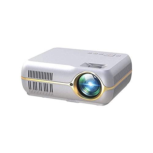 HRRF Mini proyector, proyector de Video con 50,000 hrs LED Light LED Proyector de Cine en casa portátil 1080p admitido, Compatible con PS4