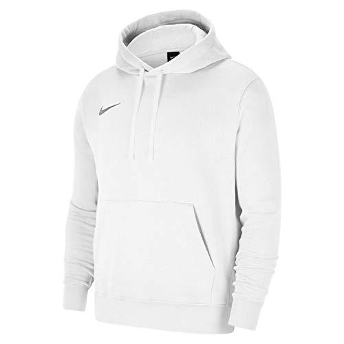 Nike Team Club 20 Hoodie Maglia Lunga, Bianco/Lupo Grigio, XL Uomo