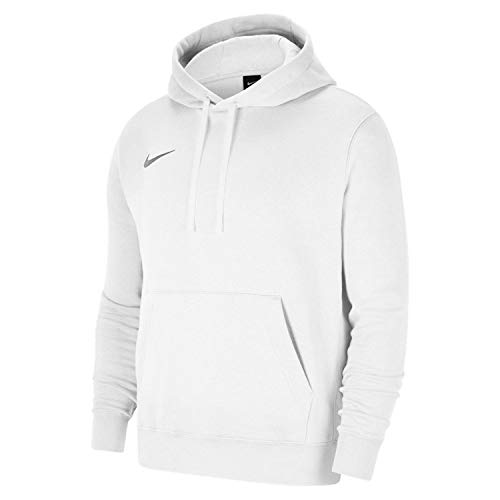 Nike Team Club 20 Hoodie Felpa con Cappuccio, Bianco/Lupo Grigio, L Uomo