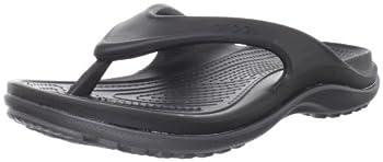 crocs Men s 12058 Duet Athens Flip Flop,Black/Graphite,Men s 4 M US/Women s 6 M US