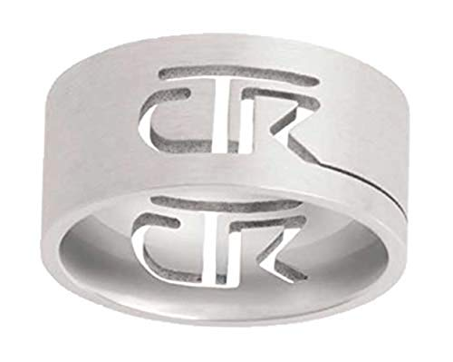 One Moment In Time J69 Size 14.5 Cutout Stainless Steel CTR Ring Mormon LDS Unisex