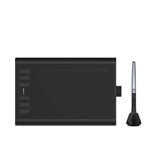 Huion H1060P Tablet Gráfico de Dibujo 10 x 6.25 Pulgadas, lápiz sin batería, Soporte para Windows Mac Android, Ideal para la enseñanza y el Trabajo en línea (reacondicionado)